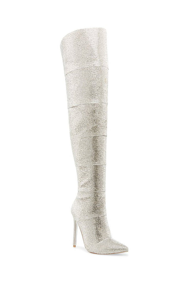 WONDERS OVER THE KNEE RHINESTONE BOOT