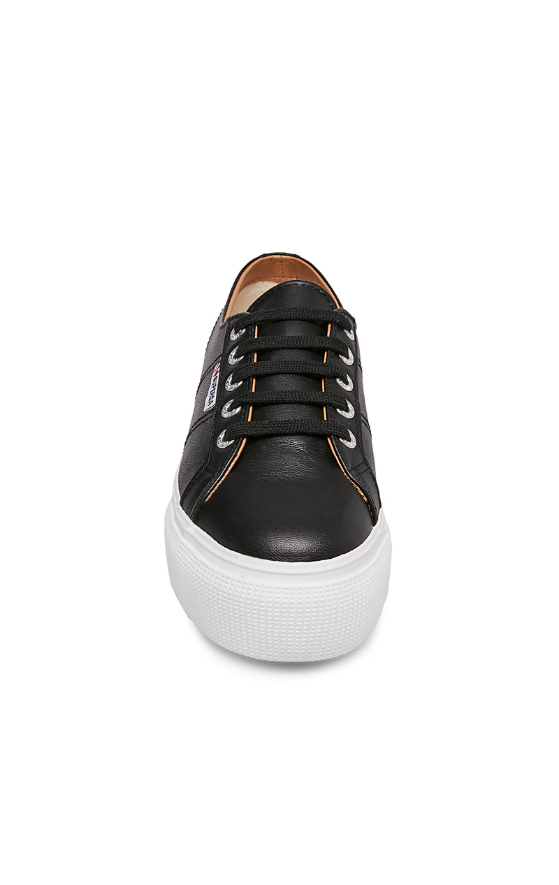 SUPERGA LEATHER PLATFORM SNEAKER FRONT