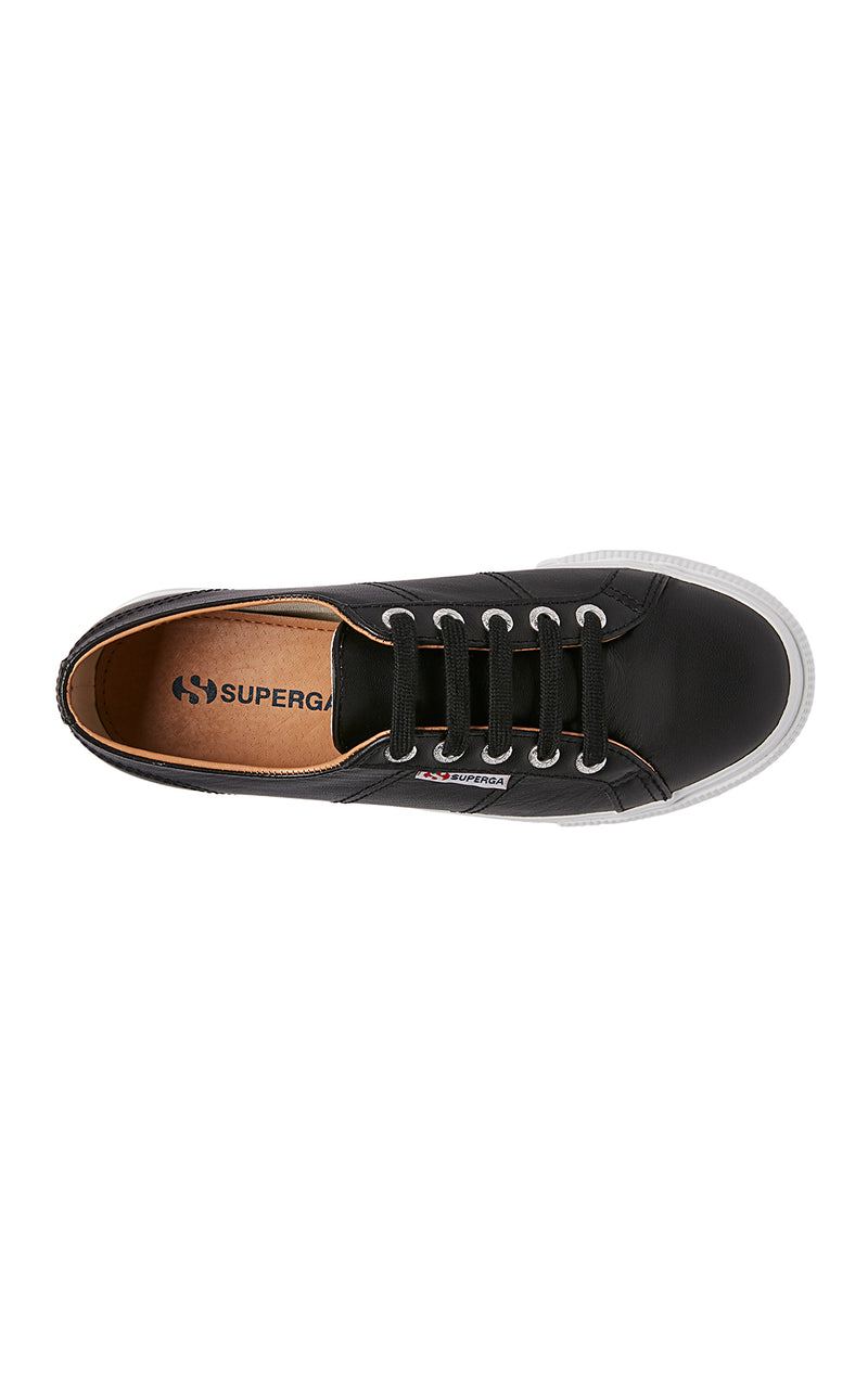 SUPERGA LEATHER PLATFORM SNEAKER