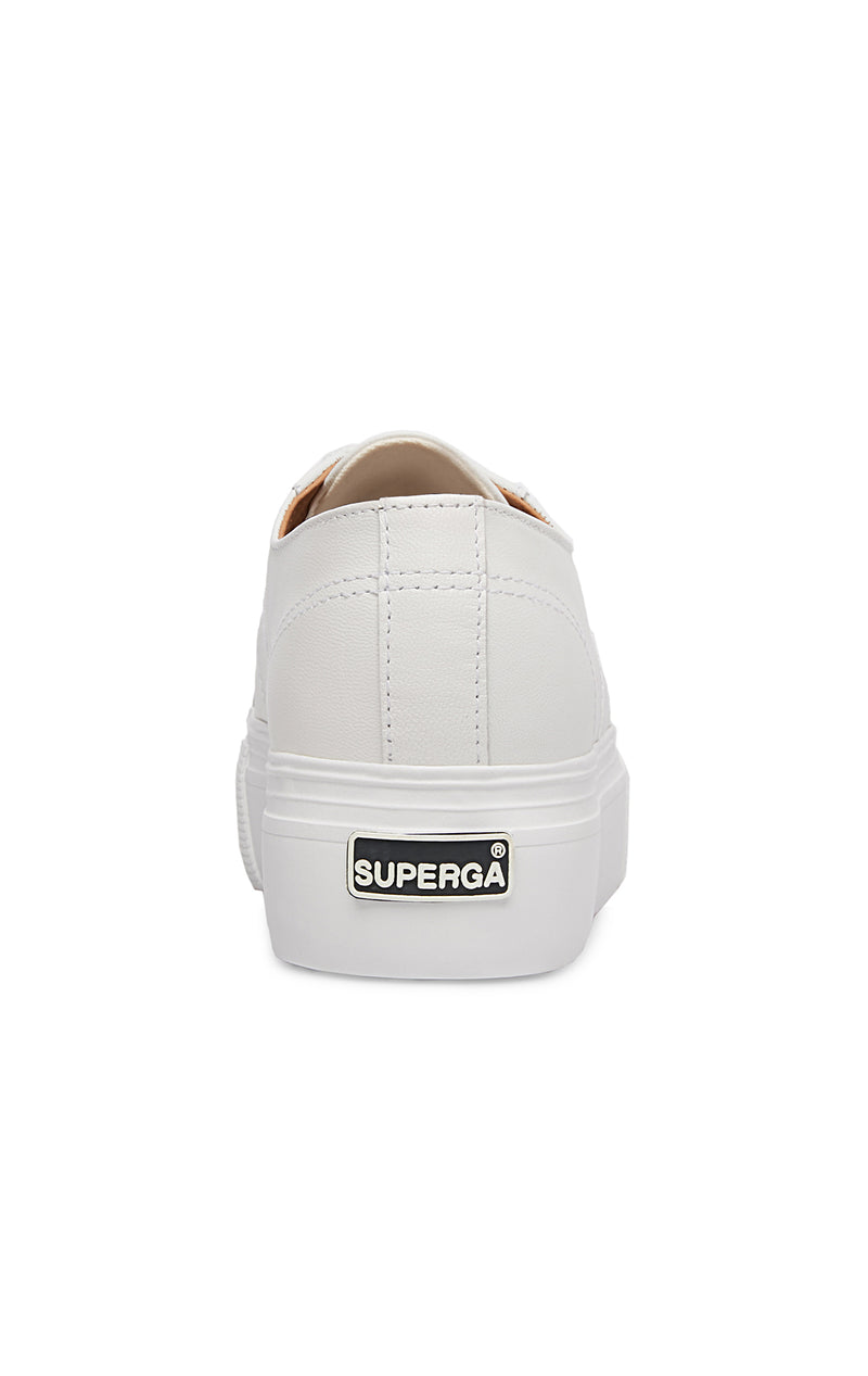 SUPERGA LEATHER PLATFORM SNEAKER BACK