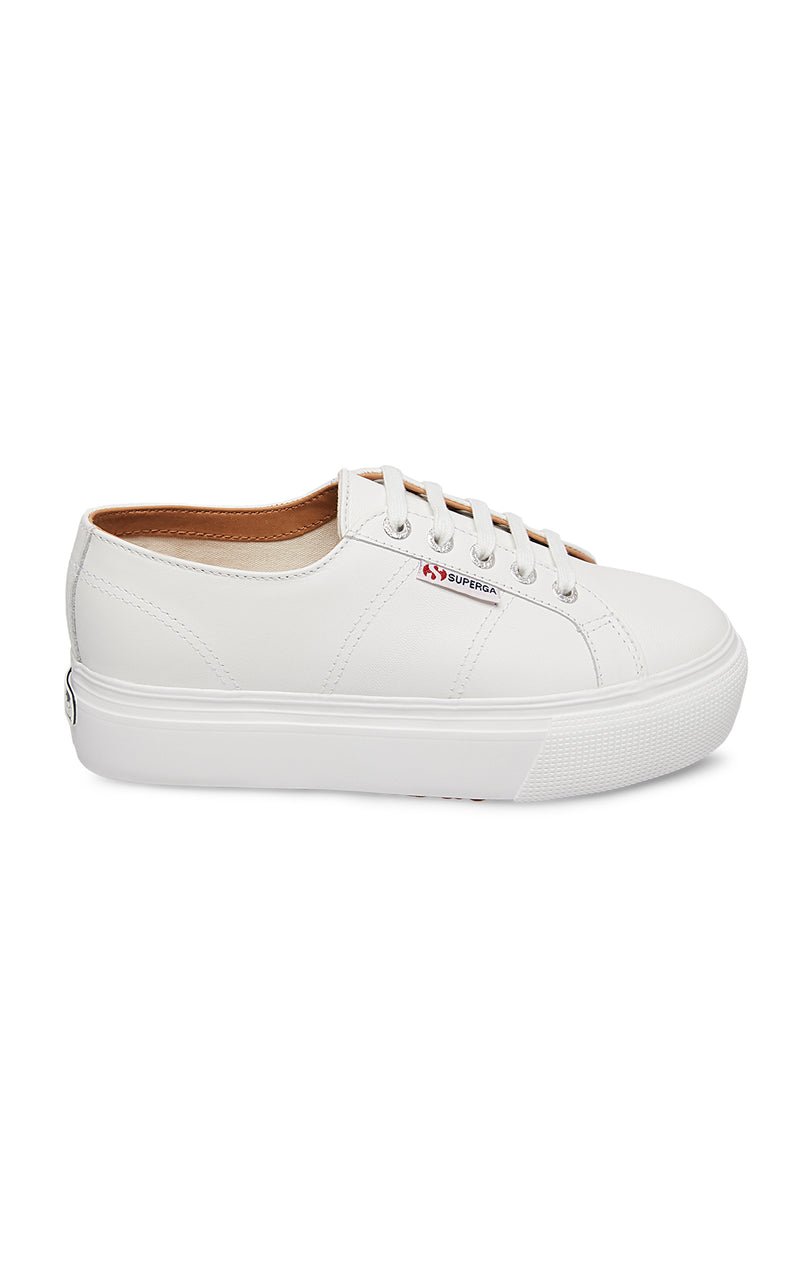 SUPERGA LEATHER PLATFORM SNEAKER SIDE
