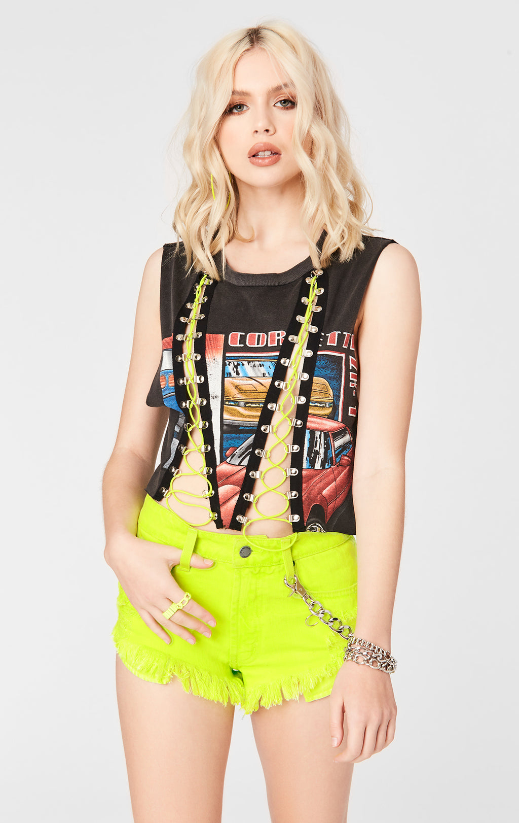 BUNGEE LACE UP TEE