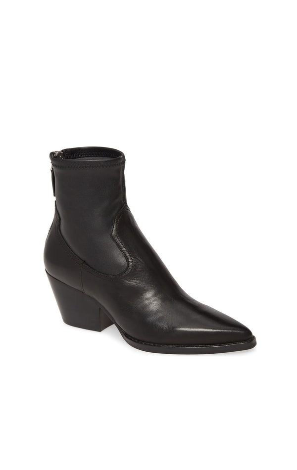 SHANTA WESTERN LEATHER ANKLE BOOT