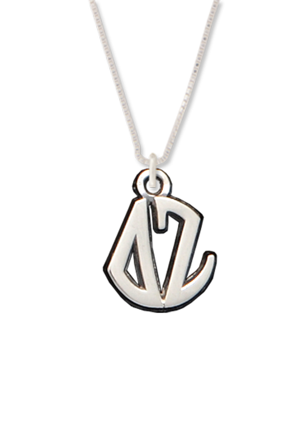 Letters Circle Drop Necklace - DZ Dezigns