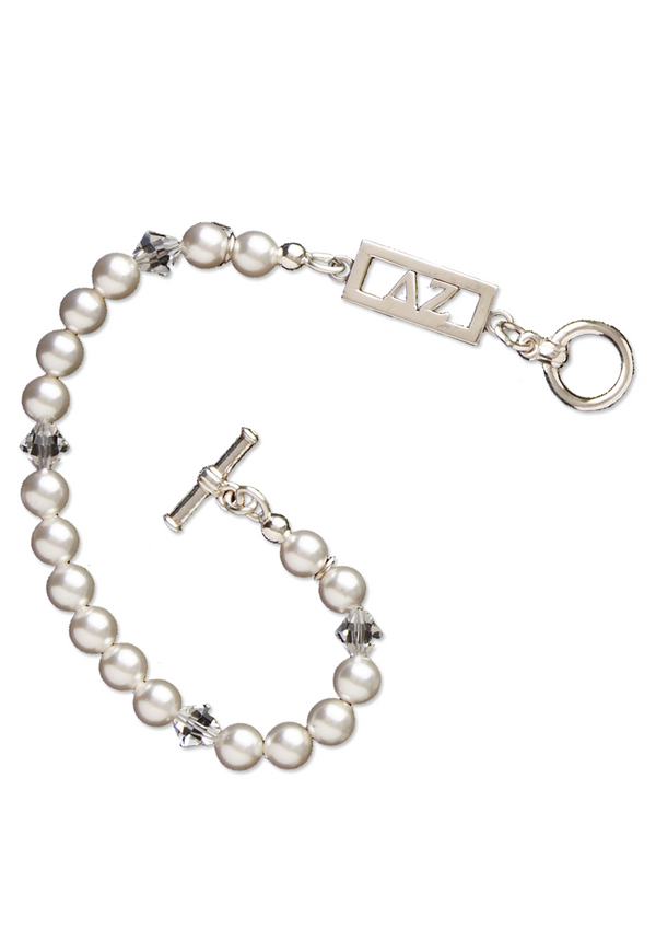 Cut Out Letters Pearl Bracelet - DZ Dezigns