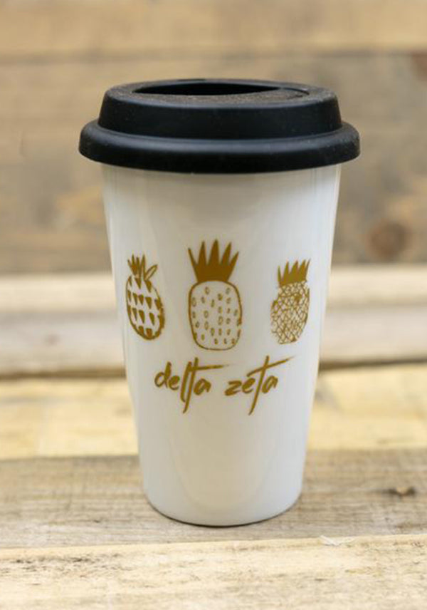 White Pineapple on the Go Terra Cup - DZ Dezigns