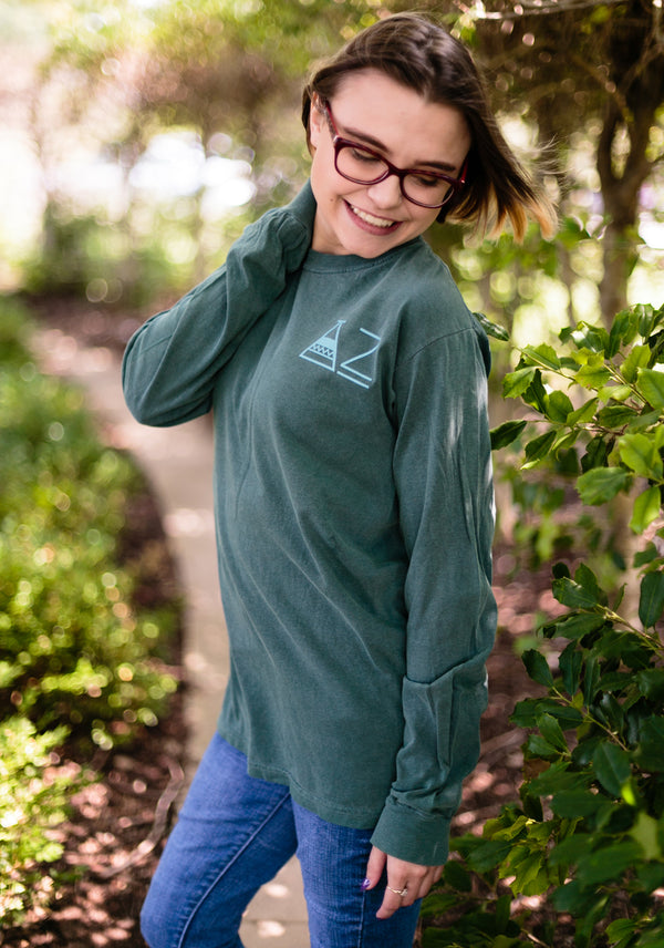 Green Long Sleeve Mountain Shirt - DZ Dezigns