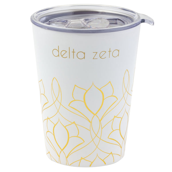 White and Gold 12 oz Travel Mug - DZ Dezigns