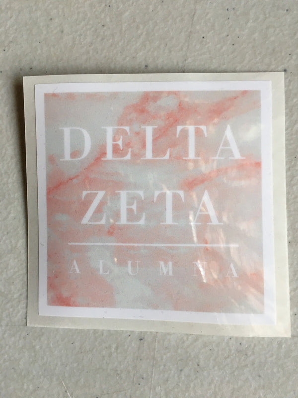 Pastel Pink DZ Alumna Decal - DZ Dezigns