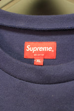 "Used! Supreme Shadow Stripe L/S Top ""Navy"" Size XL"