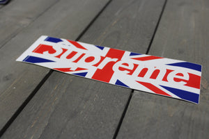 New! Supreme United Kingdom Logo Sticker