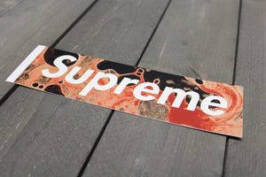 New! Supreme Blood and Semen Sticker