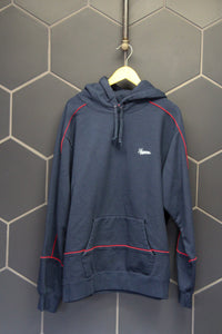 New! Supreme Piping Hooded Sweatshirt Navy Size XL