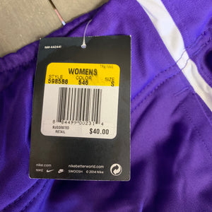 New! Womens Nike Sweatpants Training Team Track Overtime Purple White (Multiple Sizes)