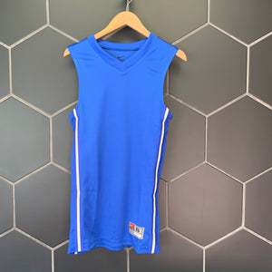 New! Mens Nike Basketball Team Jersey Tank Top Royal Blue Size XS