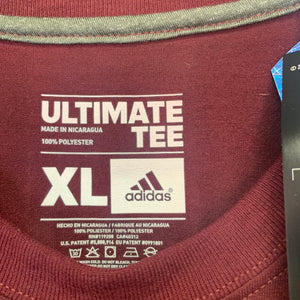 New! Adidas Arizona State Sundevils Polyster T-Shirt Burgundy Yellow Size Extra Large