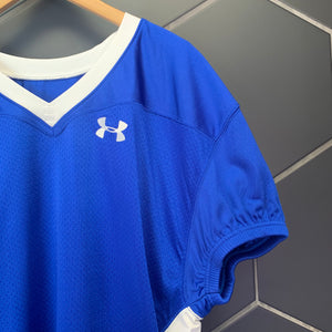 New! Mens Under Armour Mesh Team Uniform Jersey Football Padded Royal Blue White Size XL