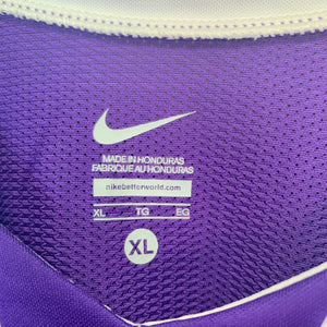 New! Mens Nike BasketballTeam Jersey Purple White Size Extra Large