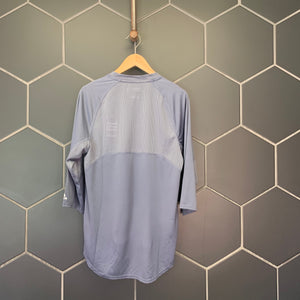 New! Adidas Climalite Game Day Fielder  3/4 Sleeve Onix Grey Size Small