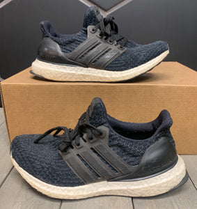 Used W/O Box! Womens Adidas Ultraboost 3.0 Core Black Size 5
