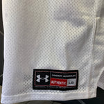 New! Mens Under Armour Mesh Team Uniform Jersey Football Padded Burgundy White Size Large