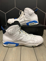 Used W/ Damaged Box! 2014 Air Jordan 6 Sport Blue Shoe Size 13