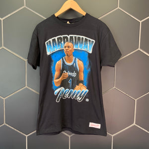New! Mitchell & Ness Penny Hardaway Orlando Magic Vintage T-Shirt Black Size Small