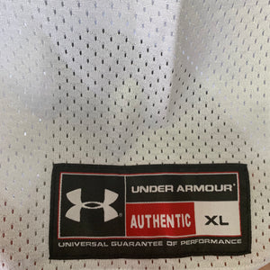 New! Mens Under Armour Mesh Team Uniform Jersey Football Padded White Red Size XL