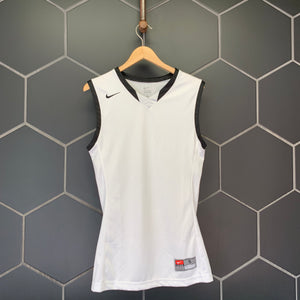 New! Mens Nike Basketball Mesh Team Jersey Tank Top White Black (Multiple Sizes)