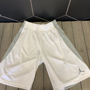 New! Mens Air Jordan Basketball Athletic Team Shorts White Grey (Multiple Sizes)