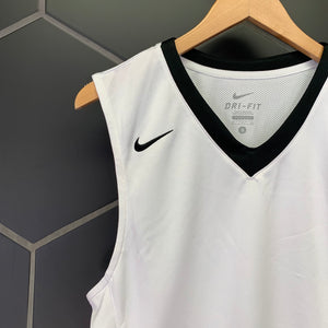 New! Mens Nike Basketball Dri-Fit Team Athletic Top White Black Size Small