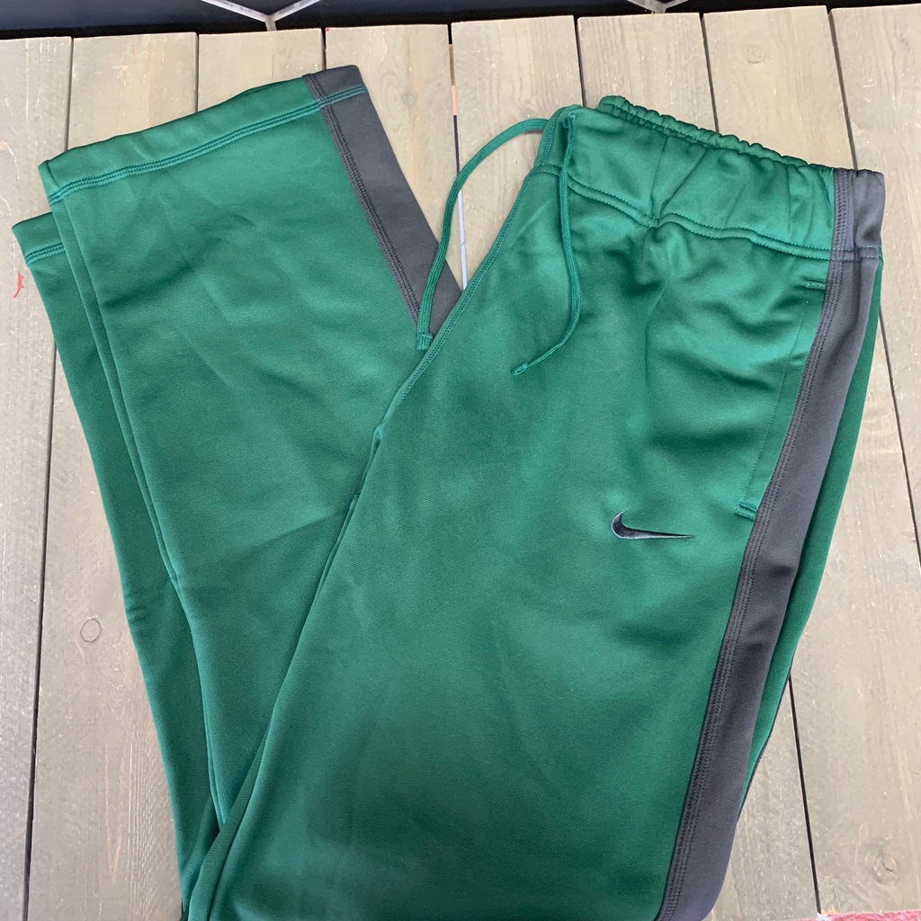 New! Womens Nike Sweatpants Training Warm Thermafit Green Grey Size Large