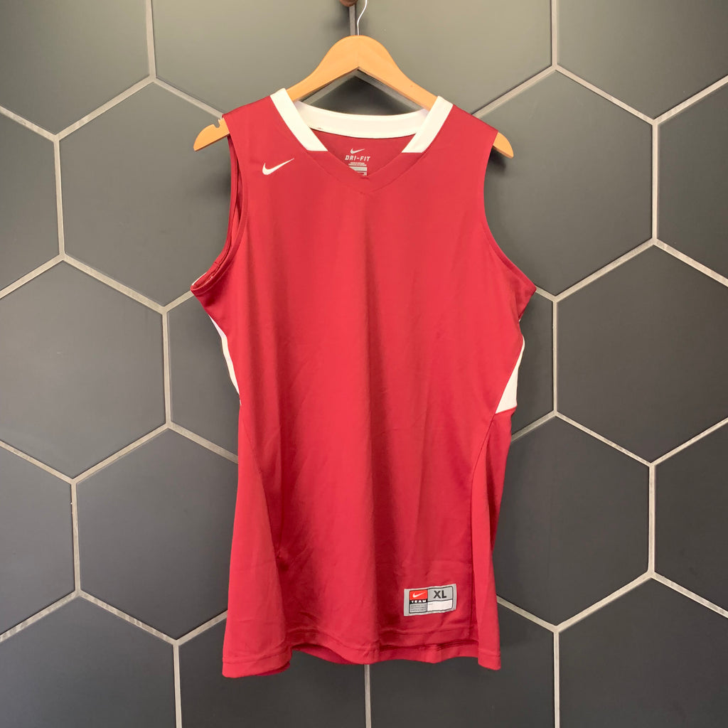 New! Womens Nike Basketball Dri-Fit Team Uniform Jersey Maroon White Size Extra Large