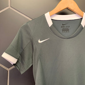 New! Womens Nike Volleyball Dr-Fit Short Sleeve Grey White Shirt (Multiple Sizes)