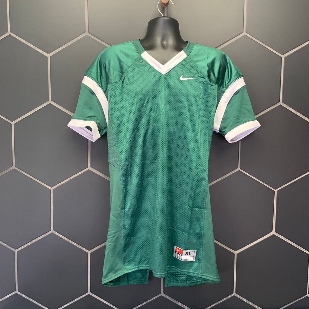 New! Mens Nike Football Pads Mesh Jersey Green White (Multiple Sizes)
