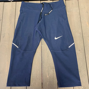 New! Womens Nike Athletic Running Capri Leggings Navy Size XS