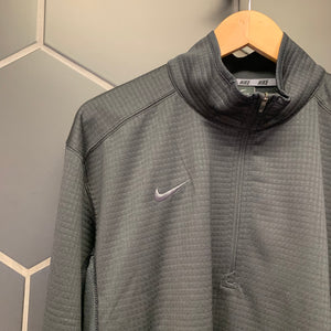 New! Mens Nike Dri-Fit Athletic Training Jacket 1/2 Zip Black (Multiple Sizes)