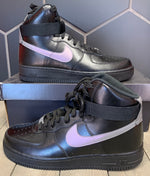 New W/ Box! Nike Air Force 1 High '07 LV8 Dual Chrome Black Shoe (Multiple Sizes)