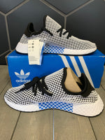 New W/ Box! Adidas Deerupt Runner White Black Shoe (Multiple Sizes)
