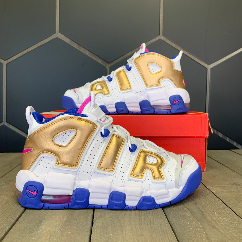 New W/ Box! Nike Air More Uptempo Fuchsia Blast PB&J GS Shoe (Multiple Sizes)