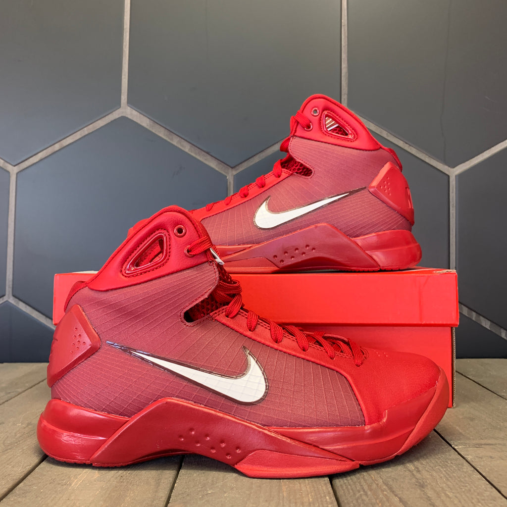 New W/ Box Nike Hyperdunk '08 Red White Basketball Shoes Size 8