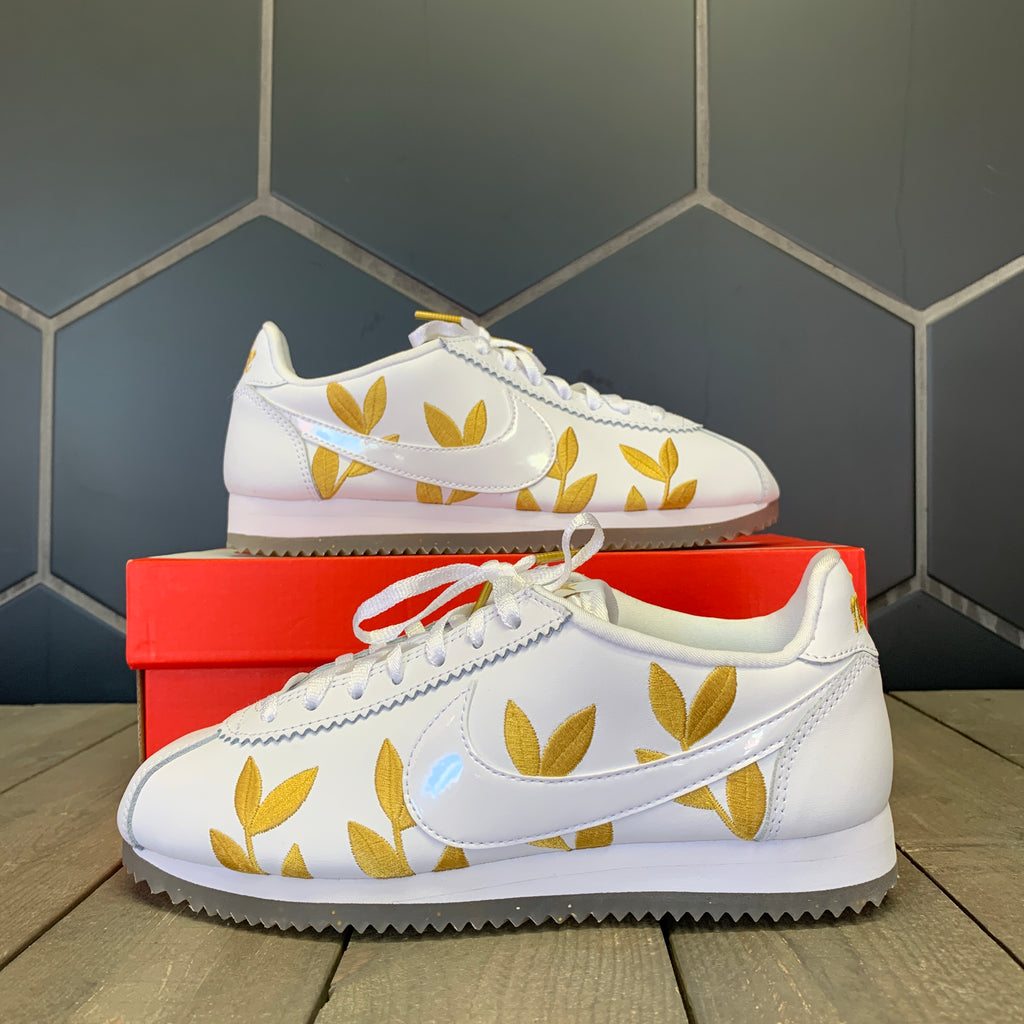 New W/ Box Womens Nike Cortez CE Gold Leaves Shoes (Multiple Sizes)