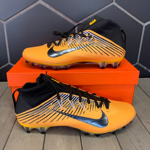 New W/ Box! Nike Vapor Untouchable 2 PF Gold Black Football Cleats Size 13.5