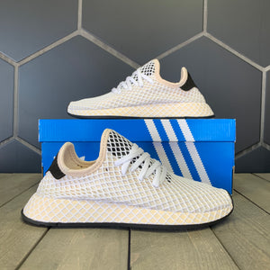 New W/ Box! Womens Adidas Deerupt Runner Linen Black Shoes (Multiple Sizes)