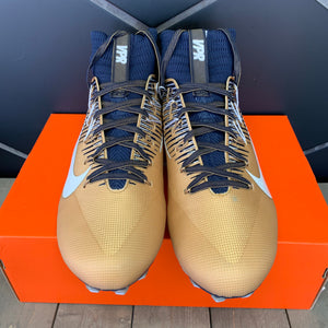 New W/ Box! Nike Vapor Untouchable 2 PF Gold Navy Football Cleats (Multiple Sizes)