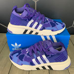 New W/ Box! Adidas EQT Support MID ADV Primeknit Purple Camo Shoes (Multiple Sizes)