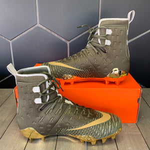 New W/ Box! Nike Force Savage Elite TD Olive Green Gold Football Cleats (Multiple Sizes)