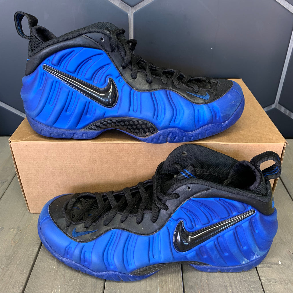Used W/O Box! Nike Air Foamposite Pro Hyper Cobalt Blue Size 9