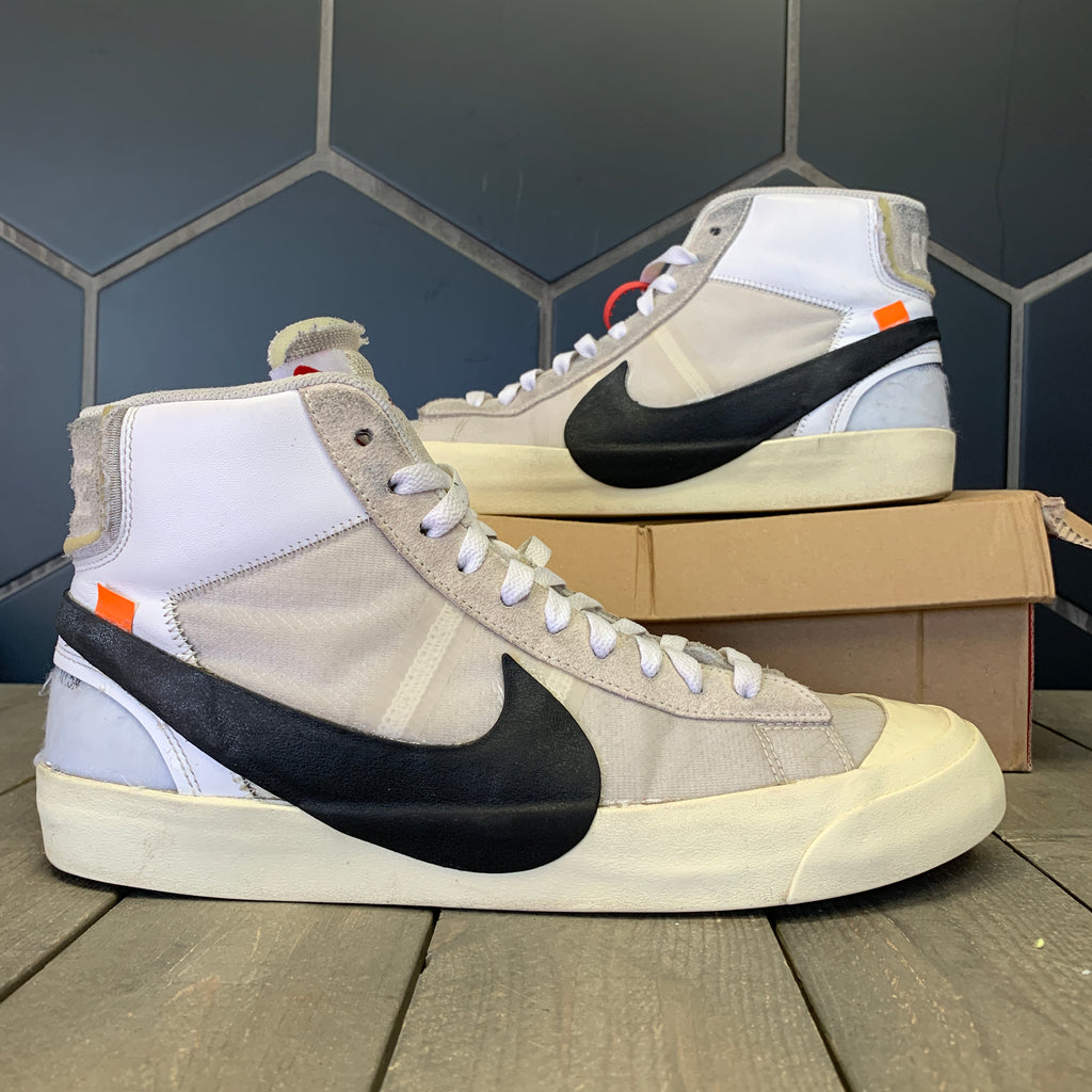 Used W/ Damaged Box! Nike Blazer Mid x Off White The 10 Shoe Size 10.5