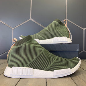 New W/ Box! Adidas NMD CS1 Night Cargo Green Primeknit Shoes (Multiple Sizes)